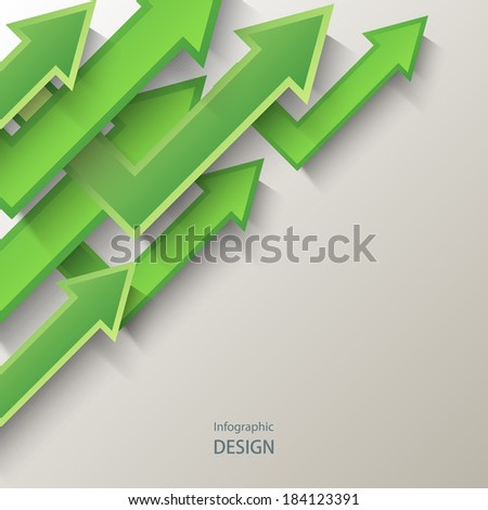Abstract  background with green arrows. Eps10