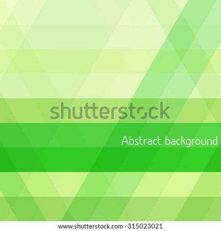 Abstract background with green diagonal stripes. Vector graphic pattern