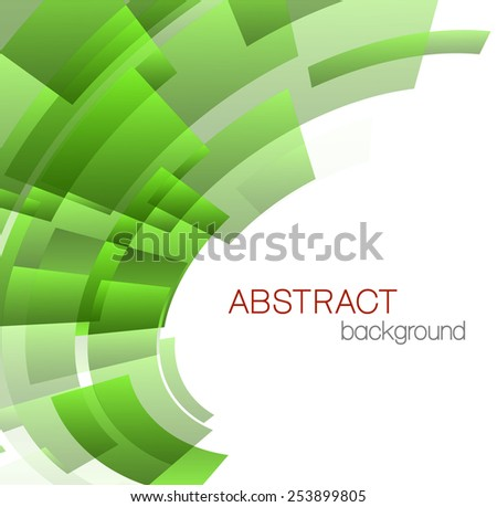 Abstract background with green rectangles - stock vector