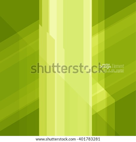 Abstract background with green stripes corner. Concept new technology and dynamic motion. Digital Data Visualization. For cover book, brochure, poster, magazine, booklet, leaflet