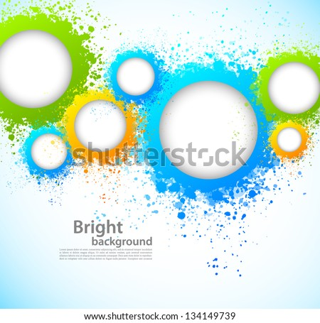 Abstract background with grunge circles