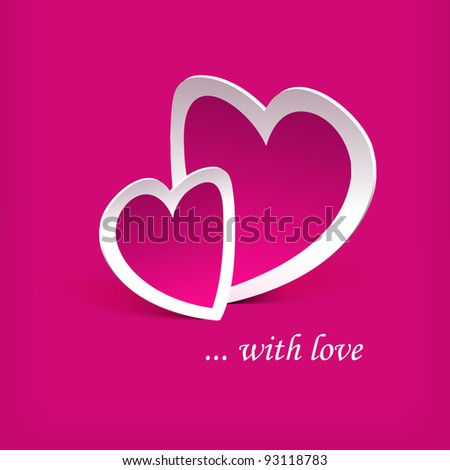 Abstract background with hearts. - stock vector
