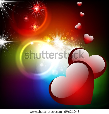 Abstract background with hearts. Vector. - stock vector