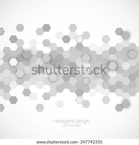 Abstract background with hexagons pattern design template - stock vector