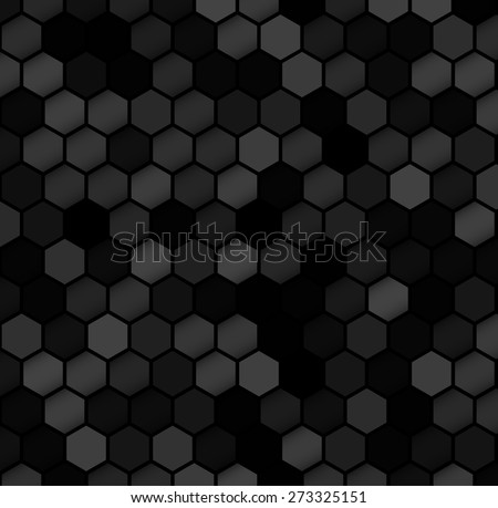 Abstract background with hexagons pattern. Vector - stock vector