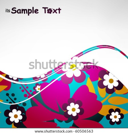 Abstract background with Hibiscus flower - stock vector