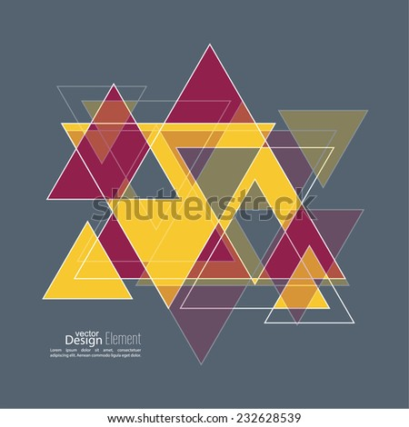 Abstract background with hipster triangles. Triangle pattern background. For cover book, brochure, flyer, poster, magazine, cd cover design, t-shirt - stock vector