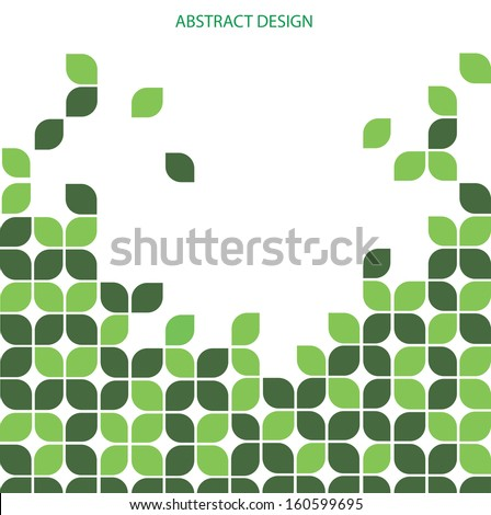 Abstract background with Leaf design - stock vector