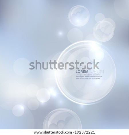 Abstract background with light and bright spots and  soap bubbles. For cards, invitations, greetings for the holidays, Christmas, joy - stock vector