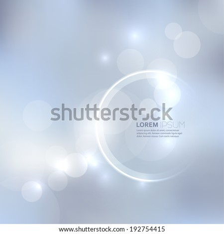 Abstract background with light and bright spots. For cards, invitations, greetings for the holidays, christmas, joy - stock vector