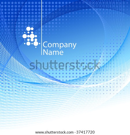 Abstract background with logo. - stock vector