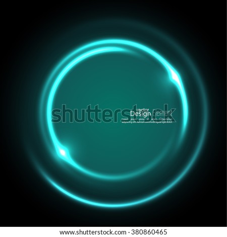 Abstract background with luminous swirling backdrop. Intersection curves. Glowing spiral. The energy flow tunnel. Vector. turquoise, green - stock vector