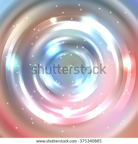 Abstract background with luminous swirling backdrop. Shiny swirl background.  Intersection curves.  Pastel pink, blue, beige colors.  - stock vector