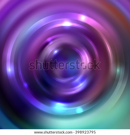 Abstract background with luminous swirling backdrop. Shiny swirl background.  Intersection curves. Pink, purple, green colors.  - stock vector