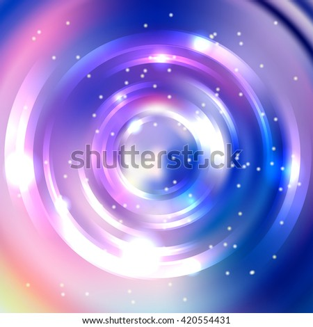 Abstract background with luminous swirling backdrop. Shiny swirl background.  Intersection curves. White, pink, blue colors.  - stock vector