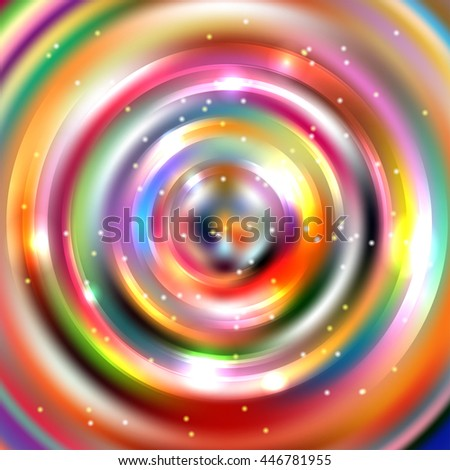 Abstract background with luminous swirling backdrop. Shiny swirl background.  Intersection curves. Colorful background.  - stock vector