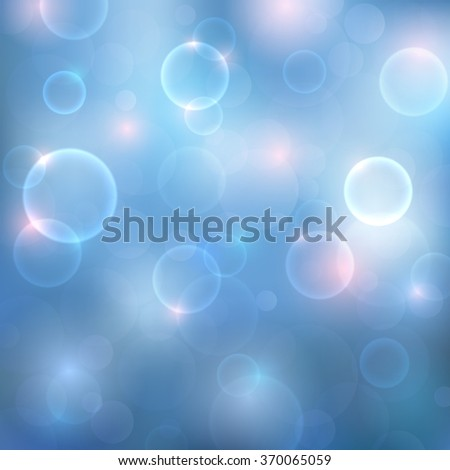 Abstract background with magic lights. Blurred soft backdrop with colorful twinkling lights bokeh. Vector illustration. EPS10 - stock vector