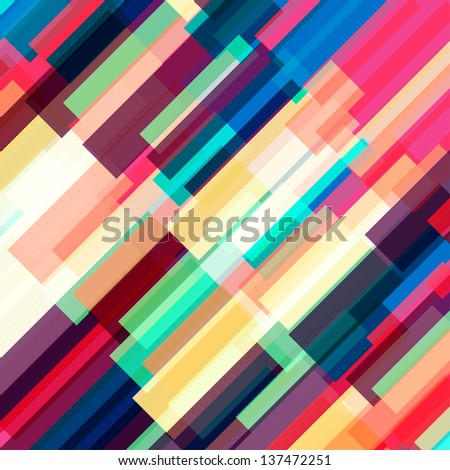 Abstract background with many bright transparent stripes, vector illustration - stock vector
