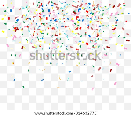Abstract background with many falling tiny confetti pieces. vector background - stock vector