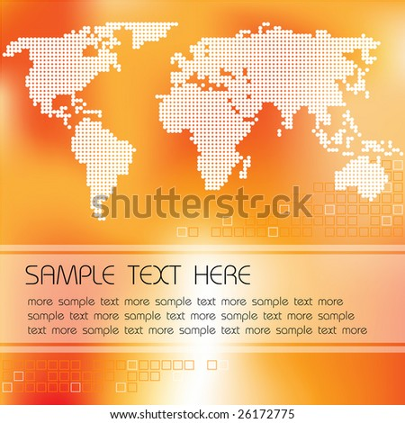 Abstract background with map of the world and place for your text