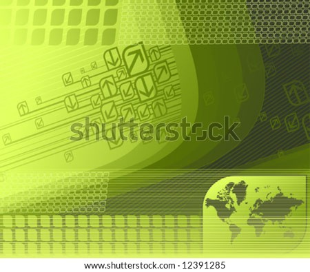 Abstract background with map. Vector illustration.