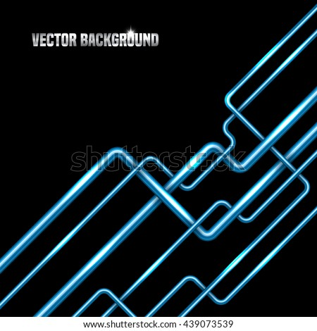 Abstract background with metal tubes. Vector illustration - stock vector