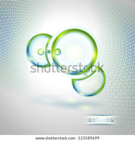 Abstract background with molecule - stock vector