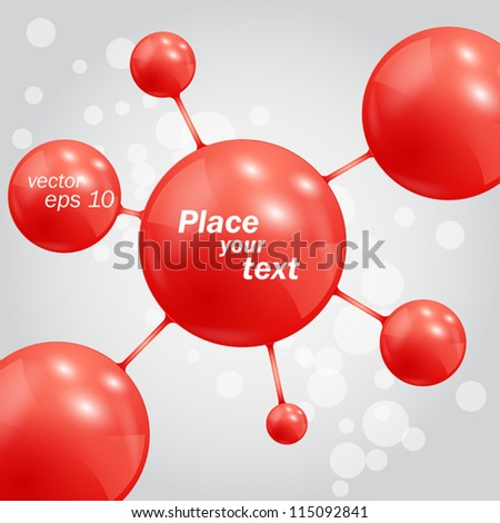 Abstract background with molecules spheres - stock vector
