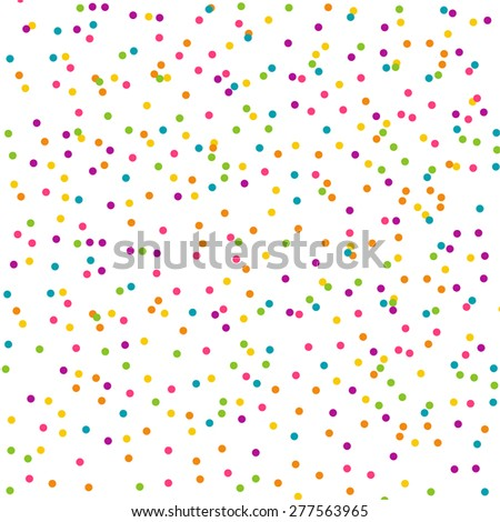 Abstract background with multicolored confetti festive.
