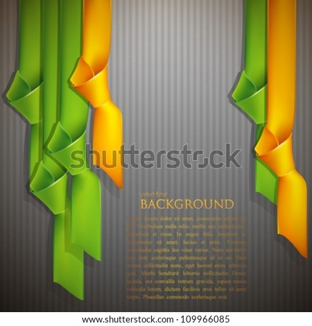 abstract background with multicolored ribbons - stock vector