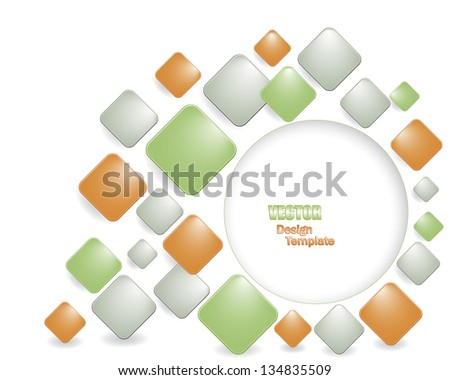 Abstract background with multicolored squares. Vector illustration. - stock vector