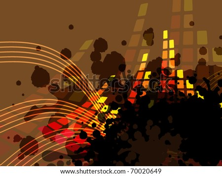 Abstract background with music bar