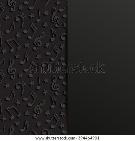 Abstract background with musical notes. Vector illustration.  - stock vector