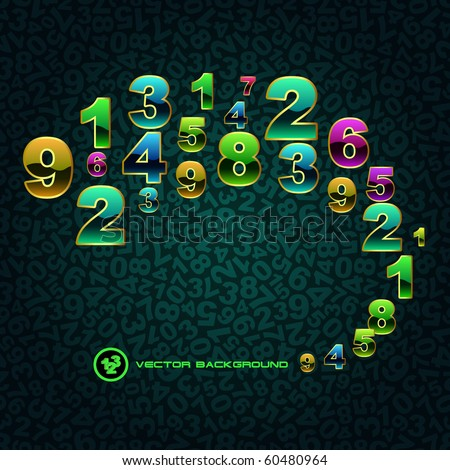 Abstract background with numbers.