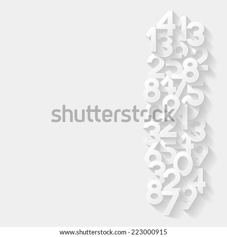 Abstract background with numbers. Vector illustration  - stock vector