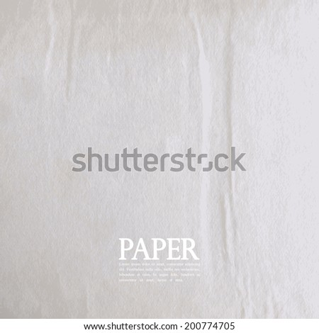 abstract background with old crumpled paper texture - stock vector