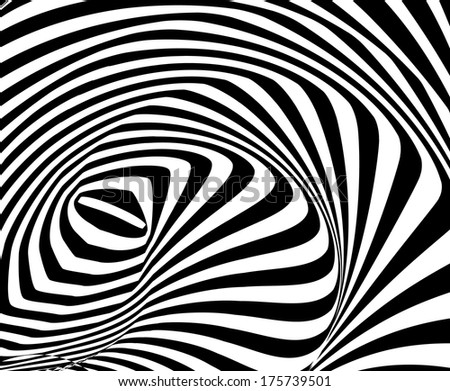Abstract background with optical illusion effect. Vector  - stock vector