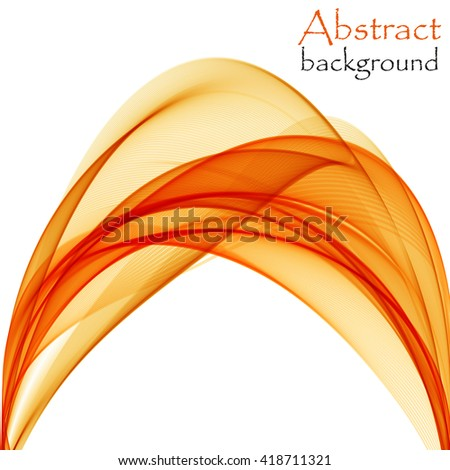 Abstract background with orange wave