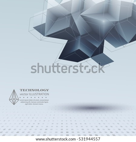 Abstract Background Origami Polygonal Shapes Websites Stock Vector