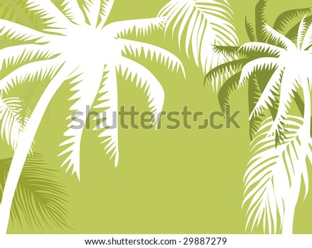 abstract background with palm tree, vector illustration - stock vector