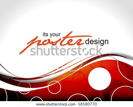 Abstract background with poster design for text project used, vector illustration. - stock vector