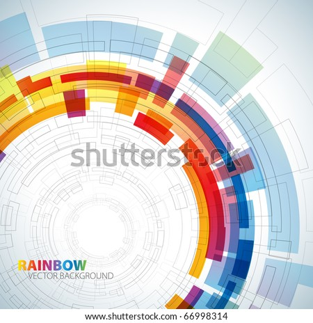 Abstract background with rainbow colors and place for your text - stock vector