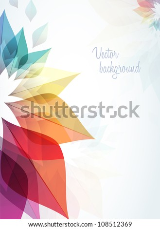 abstract background with rainbow flowers - stock vector