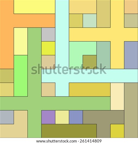 Abstract background with rectangles. Vector. 3 - stock vector