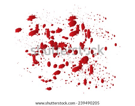 Abstract background with red splashes.Vector illustration.