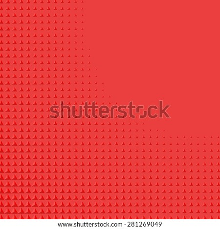 Abstract background with red triangular shape gradient - stock vector