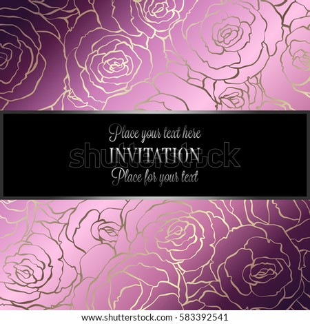 Abstract Background Roses Luxury Royal Pink Stock Vector