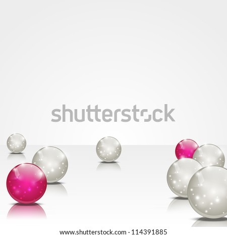 Abstract background with shiny balls