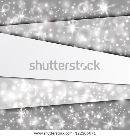 Abstract background with silver layers. EPS10