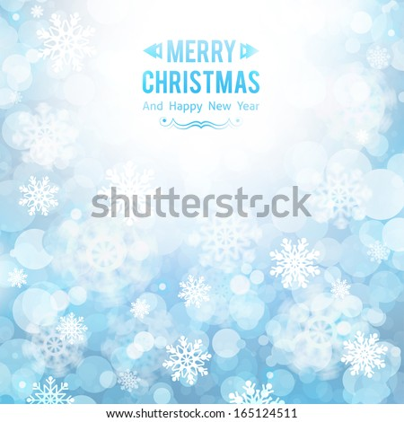 abstract background with snowflakes for christmas design - stock vector